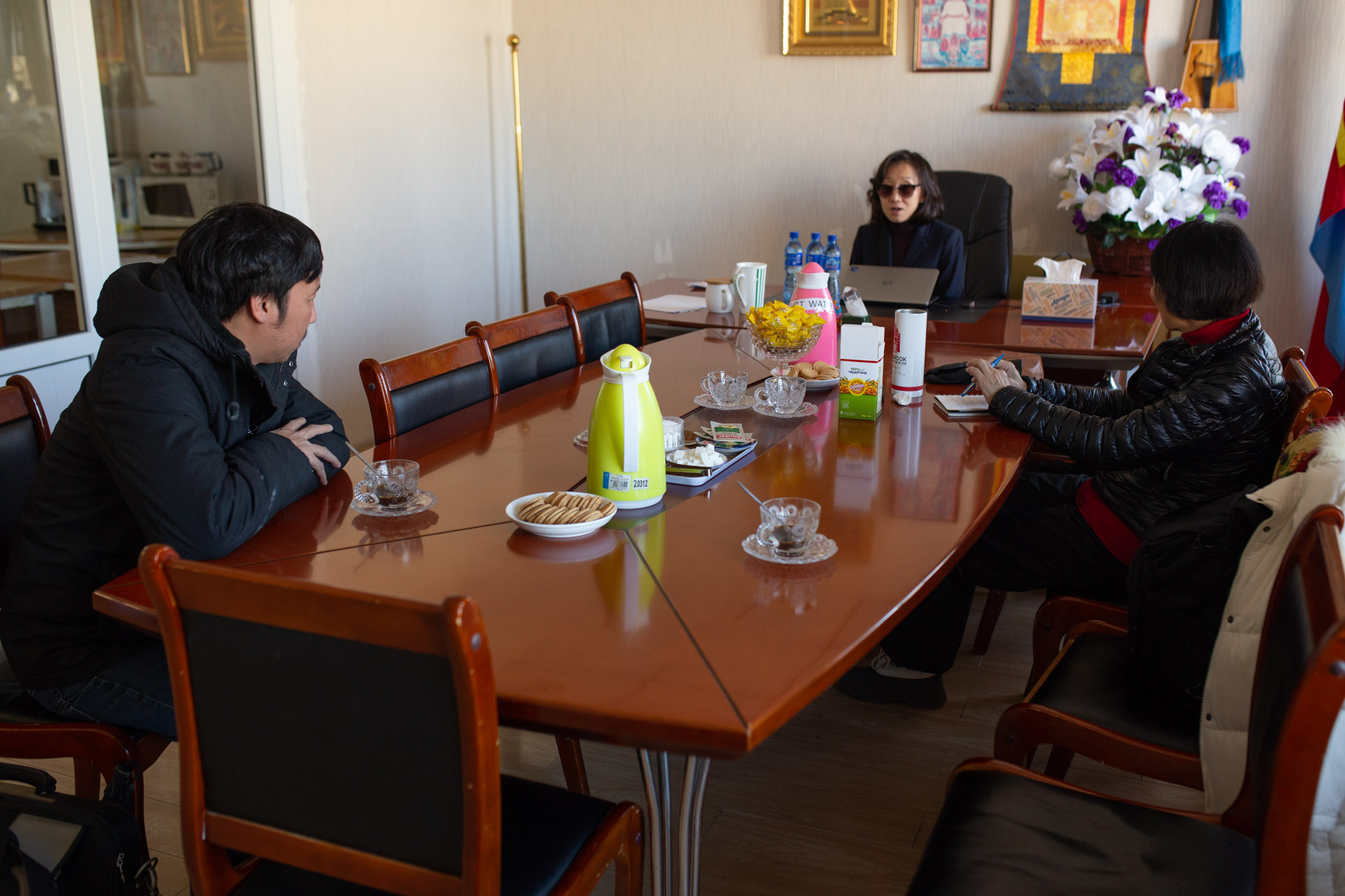 A meeting with Ms. Gerel Dondovdorj, President of MNFB