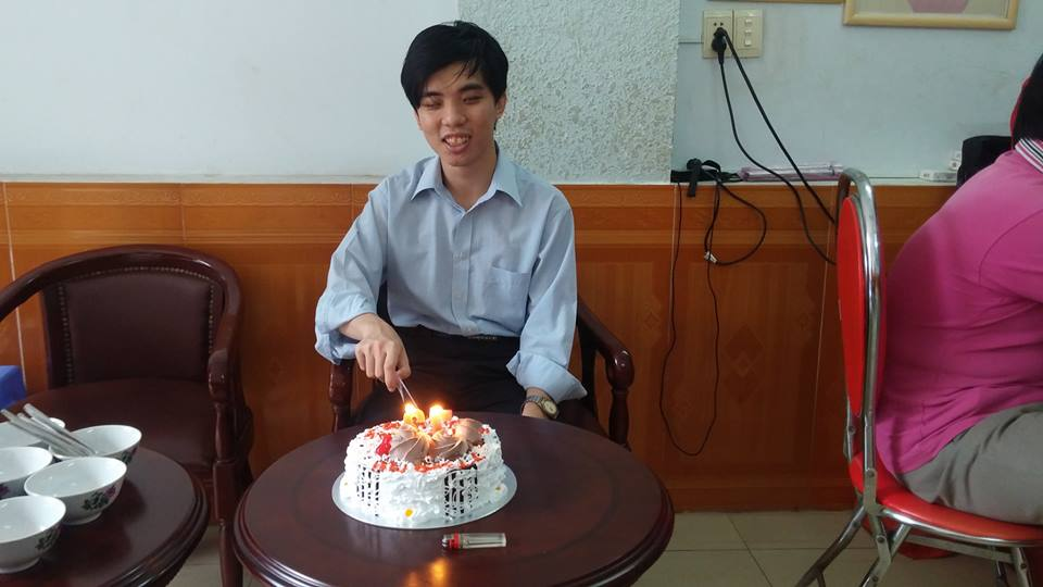 Cuong on his birthday at Sao Mai (2014)