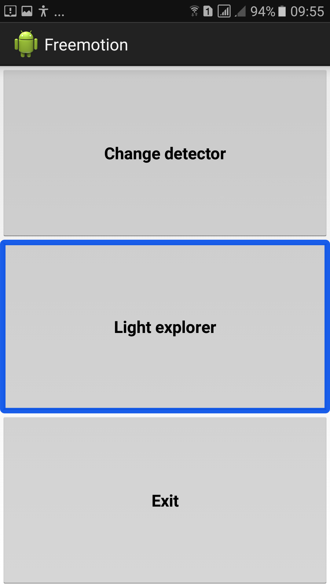 Light Detecter's main interface.