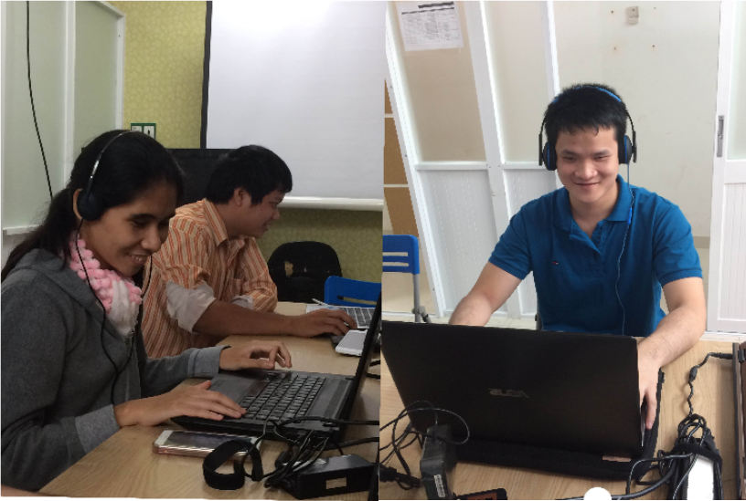 Visually impaired students found their jobs after attending training courses conducted by Sao Mai